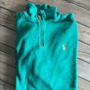 Polo 1/4 zip green size L (worn twice)